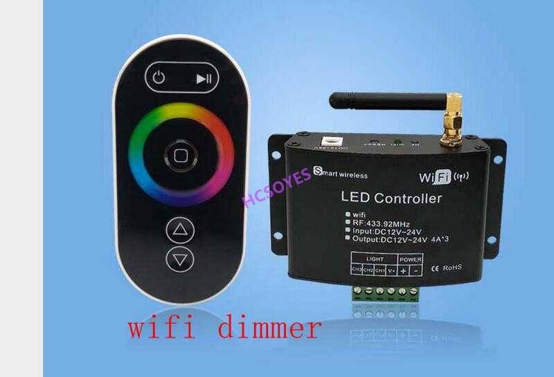 WIFI bezprzewodowe inteligencja RGBW kontroler muzyka dotykowy RGBW smartphone ściemniania RGB pilot światła samochodowe LED RGB światła stóp