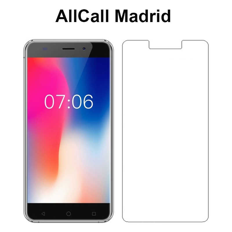 "Screen Protector For AllCall Madrid 5.5"" Tempered Glass LCD Front Film 9H Protective Screen Cover For AllCall Madrid Case Glass"