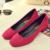 2017 de Las Mujeres elegantes de tacón alto de las nuevas mujeres de gamuza de cabeza cuadrada boca superficial zapatos casuales las mujeres profesionales OL zapatos de negocios