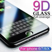 9d Защитное стекло для iphone 6 s 7 8 plus x на r xs max защита
