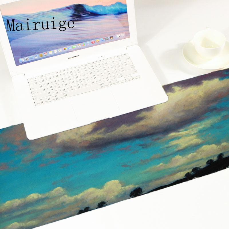 Mairuige Blue Sky Series Anti Slip Game Pattern mousepad Fps Video Game Gaming Mousepad Large Size Pc Table Mat Pad for Csgo