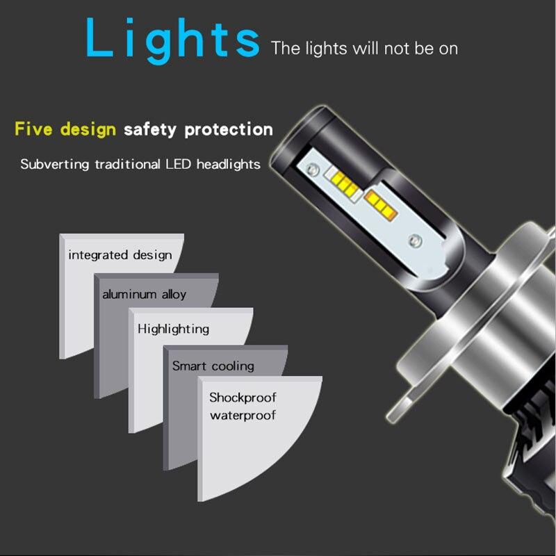 COB H11 9005 9006 3400W 510000LM LED Combo Headlight Bulbs Kit Hi-Low Beam 6000K