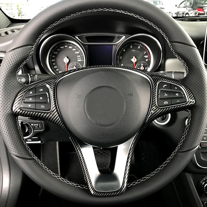 Para Mercedes Benz A B C E GLA GLC CIA GLE GLS Classe Vito W176 W246 W213 W205 C117 X156 x253 Volante Adesivos de Carro Carro Styling