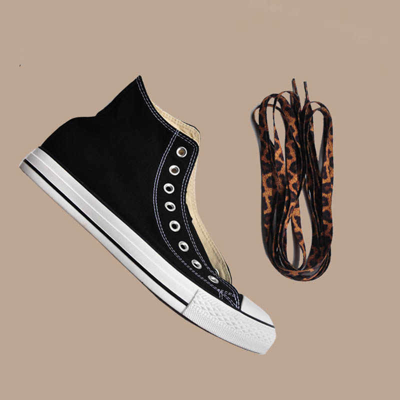 SENTCHARM 150 см/59,05 дюймов Классическая леопардовая печать шнурки модные ретро плоские шнурки для повседневной обуви