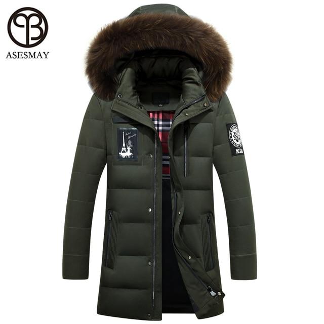 2016 Mens casacos de inverno e casacos de design jovem sonw parka homens pato para baixo puxar supremo casaco de penas de ganso neve russa com capuz
