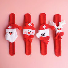 12 Pcs / Lot Christmas Patting Circle Bracelet Xmas Children Gifts Santa Claus Snowman Deer New Year Party Toys Wrist Decoration(China)