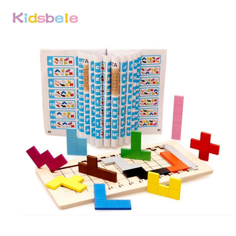 Kids Building Block Toys Children Games Playing Wooden