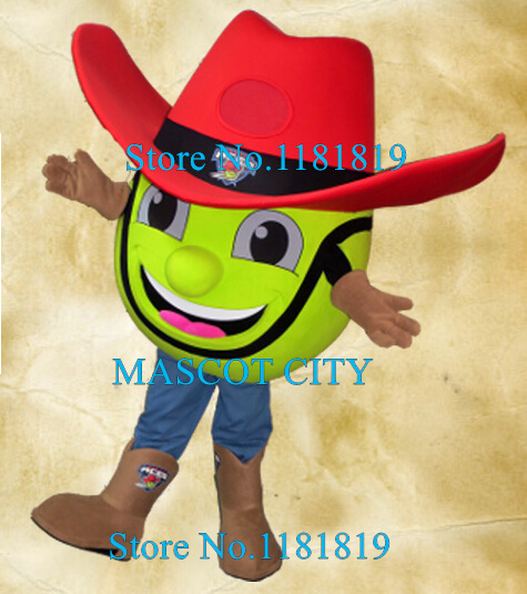 MASCOT CITY SPORT TENNIS BALL mascot cowboy costume adult cartoon character tennis theme animes cosplay carnival fancy dress kit
