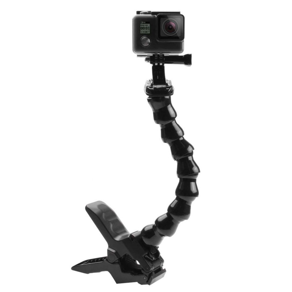 PULUZ Action Sports Cameras Jaws Flex Clamp Mount Adjustable Neck for GoPro HERO6 HERO5 HERO4 Session for GO PRO Accessories
