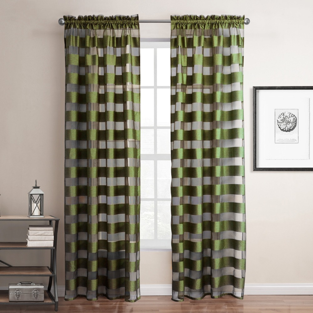 Online kopen wholesale groene streep gordijnen uit china groene ...