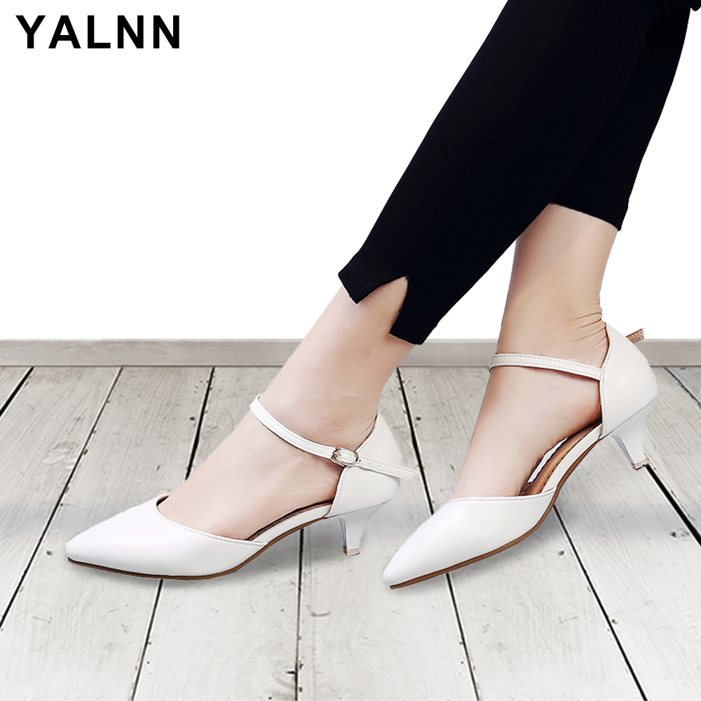 YALNN Women Sandals High Heels Shoes Ladies Sexy Sumer 2018 Big Size Leather Sandals High Heels Peep Toe Ankle Strap for Women платок leo ventoni платок