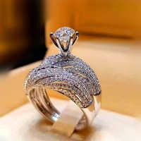 LOREDANA Dazzling Silber Natürliche Schmuck Weiß Ring Braut Hochzeit Engagement Schmuck Ring Größe 6 7 8 9 10