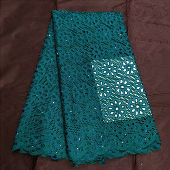 swiss voile lace in switzerland dubai fabric dry lace fabric high quality African cotton lace fabric for party dress 5yards/lot