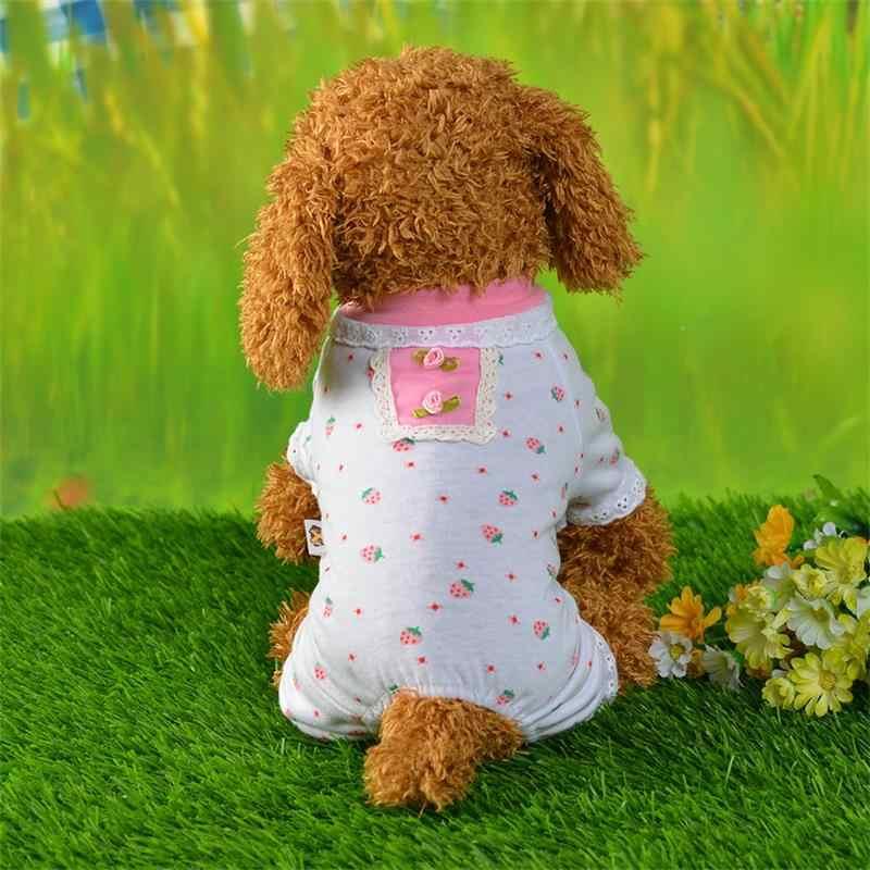 2018 الربيع الصيف الساخن بيع مريحة كلب القط ملابس خاصة صغيرة كلب الكرتون بيجامات مُزينة بطباعات للكلاب الصغيرة الملابس
