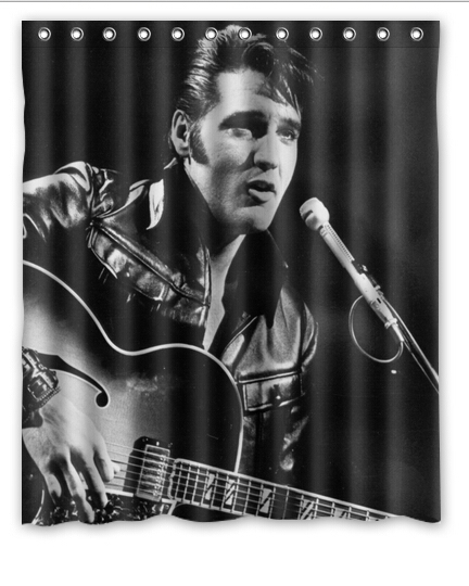 Unique Elvis Presley Shower Curtain 12 Holes To Which Rings Attach 60 X 72