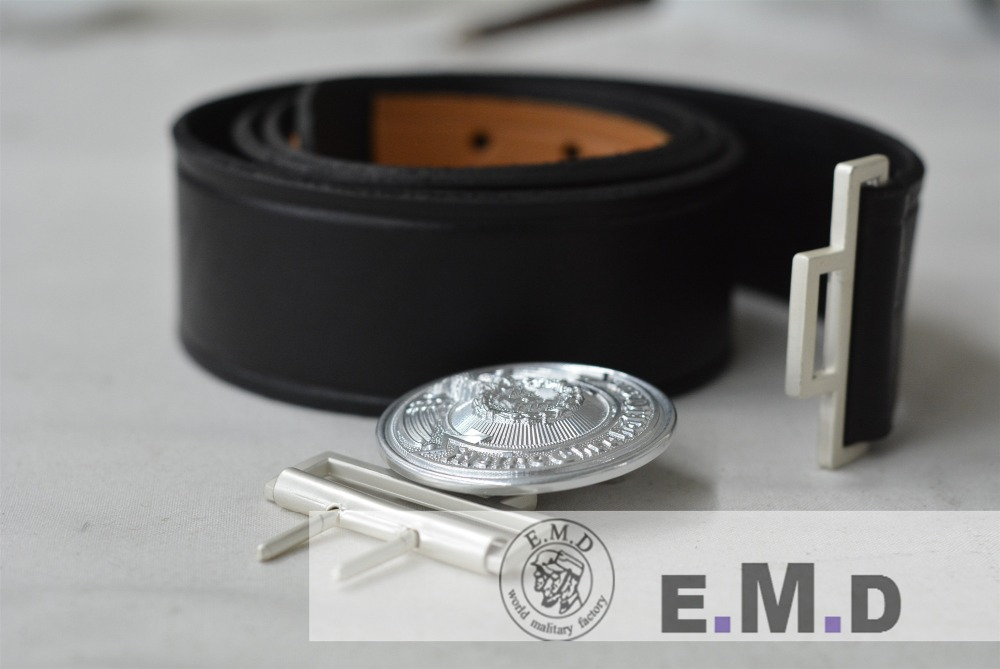 EMD WW2 Officer belt Black Cowskin