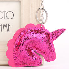 Sequins Christmas Tree Unicorn Keychain Pendant Decorative for Women Bags  Accessorie Key Chains Trinket Fashion Charm 1b3377284067