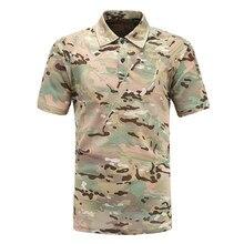 Военная камуфляжная рубашка Поло рубашка с коротким рукавом Новинка Летняя Повседневная армейская дышащая тактическая быстросохнущая рубашка поло
