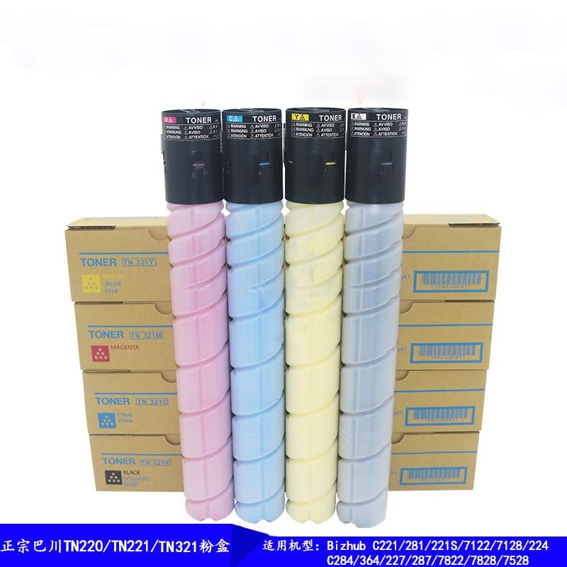 Compatible cartouche de toner tn321 pour KONICA MINOLTA BIZHUB C221 C281 C221S C224 C284 c364 c224e c284e c364e 7828 4 pièces/ensemble