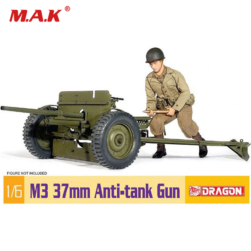 dragon 1:6 scale US M37 anti-tank cannon weapon accessories model toy unpainted collectible for 12 inches action figure doll