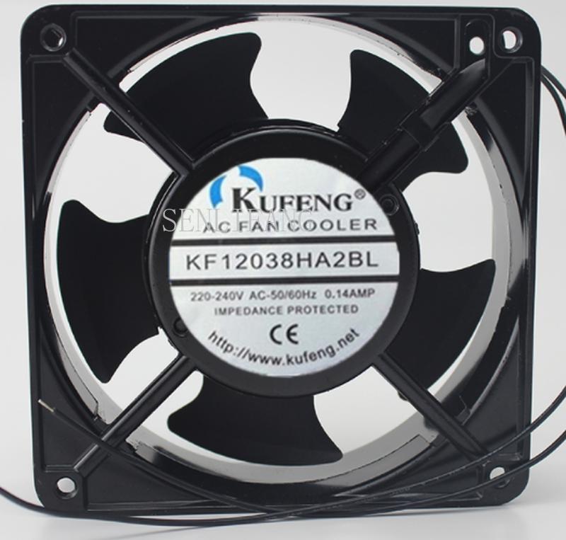 Free Shipping KF12038HA2BL AC 220V/240V 0.14A 12038 12cm 120*120*38mm 50/60HZ Cabinet Cooling Fan