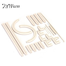 KiWarm Durable Multifunctional 5000-100 Knitting Board Knit and Weave Loom Craft Yarn Kit DIY Scarf Sweater Tools