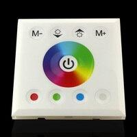 5pcs White Black Glass Touch Panel Colorful LED Mi Light Controller DC12V 24V 4 Channel For
