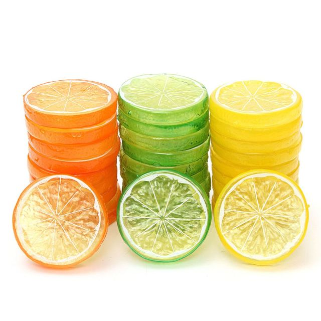 Artificial Lemon Slices Lifelike Garden Prop Home Kitchen Decorative Fruit Shooting Tools Drama Films Props House