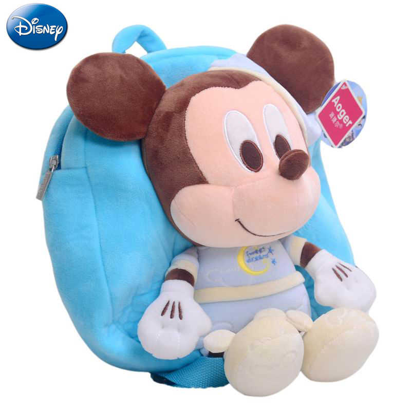 Mochila infantil de Mickey Mouse de 30cm de Disney, mochila de felpa de Minnie, mochila nueva para niña, mochila nueva para bebé Mickey Mouse