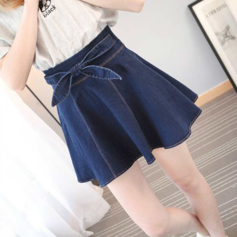 2018 new spring and summer Sexy fashion cotton empire Stretch waist young girls mini jeans skirts clothes 79130