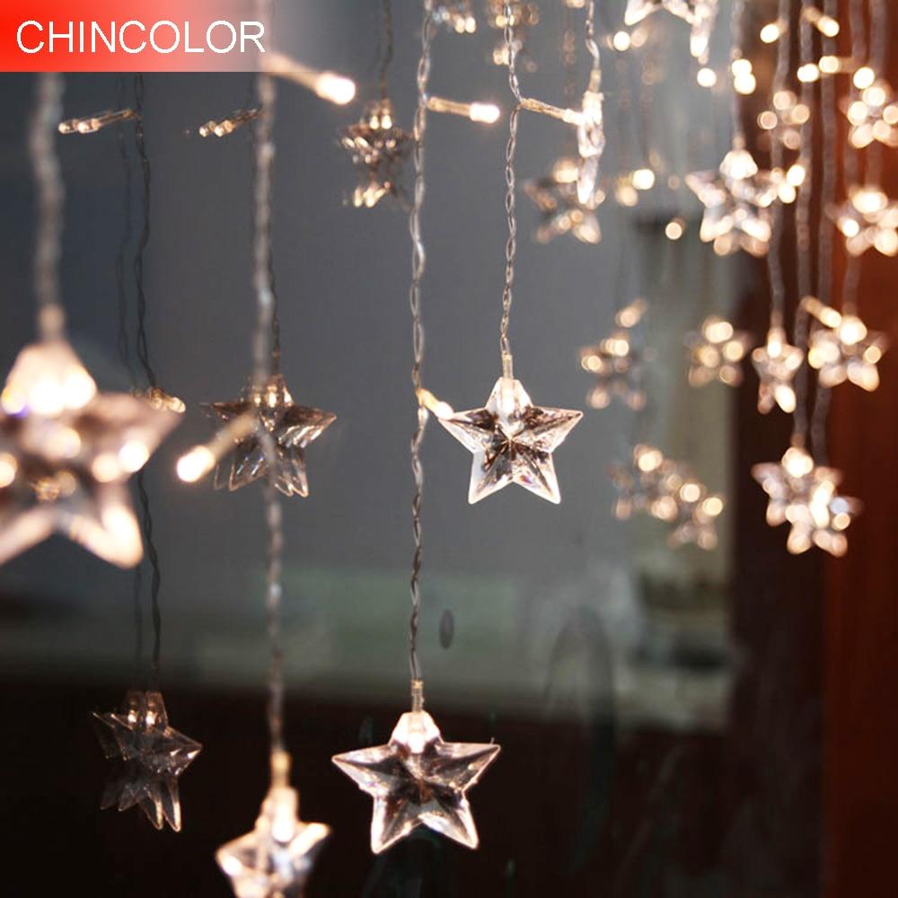 2-8m 48-320leds Holiday lights curtain light Star ice bars Led Light string AC Plug Xmas christmas wedding decoration DA