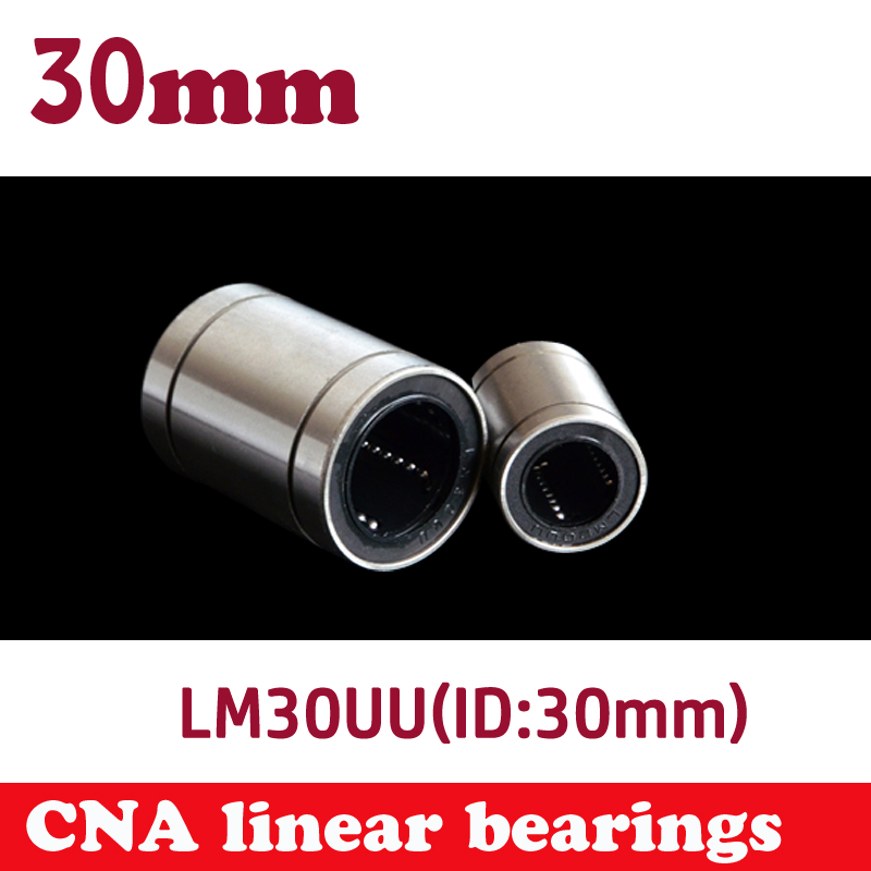 2pcs/lot LM30UU Linear Bushing 20mm CNC Linear Bearings Free shipping free shipping lm60uu 60mm linear bushing cnc linear bearings