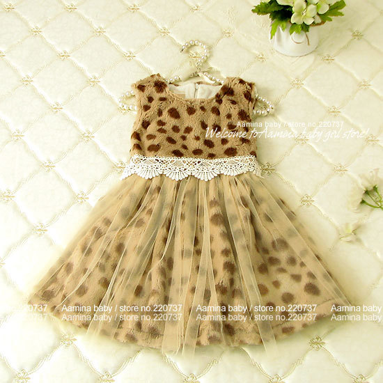 Winter Leopard tutu princess Sleeveless baby girls dresses kids clothes wholesale children clothing 5pcs/lot(2701311),2-6 years бюстгальтер patti belladonna белый 80c ru