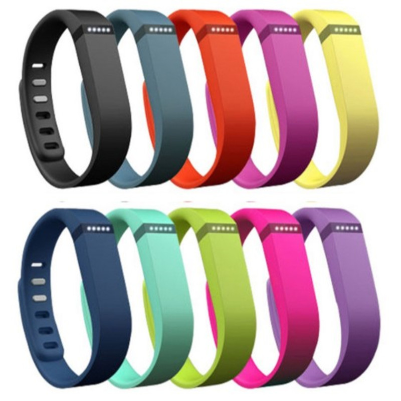 ZycBeautiful Replace Band For Fitbit Flex Wristband Bracelet Small Or Large Size With Metal Clasps / Silicon Sport Wrist Bands