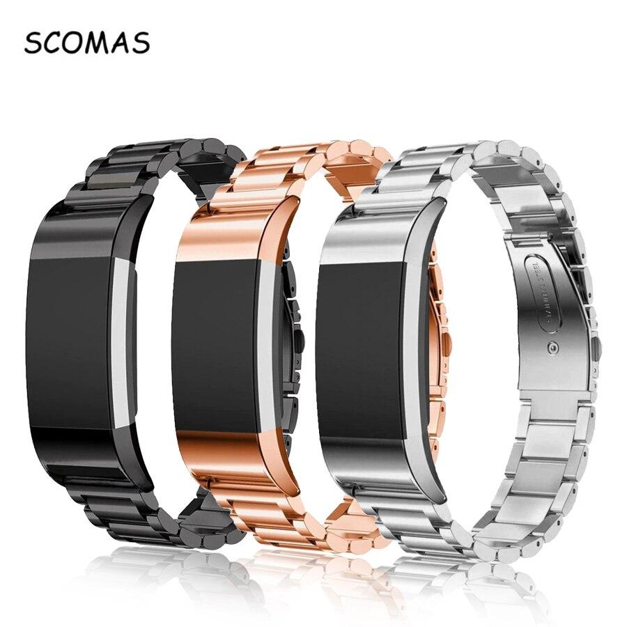 SCOMAS Edelstahl Metall Handgelenk Band für Fitbit Charge2 Uhr Ersatz Wirst Band für Fit Bit Ladung 2 Smart Zubehör