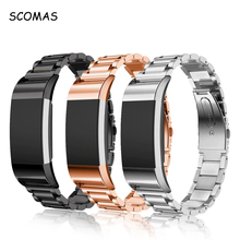 SCOMAS Stainless Steel Metal Wrist Strap for Fitbit Charge2 Watch Replacement Wirst Band Fit Bit Charge 2 Smart Accessories