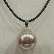 Горячая распродажа стиль >>>>> красивая! 16 мм фиолетовый морские раковины жемчужное ожерелье 18 '' ааа