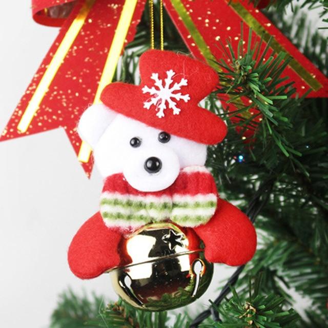 santa claus snowman dolls christmas tree decorations balls plush keychain bonecas small toys christmas gifts for - Christmas Tree Toy Decorations