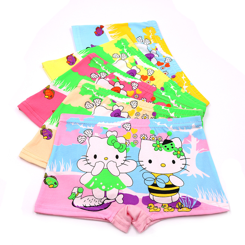 Hot Sale New 3-7Y 10Pcs Baby Girls' Briefs Boxer Underwear Kids Cute Cartoon Panties Children Soft Cotton calcinhas infantis