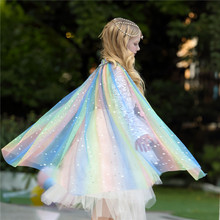 цены Princess Girl Cloak Coat Dress up Costume Cosplay Props Cape Kids Girls Jackets Dress up Costume