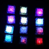 12pcs LED Ice Cubes Color Change Water Sensor Light For Bar Wedding Party