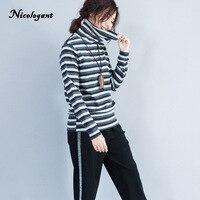 Nicelegant New Antumn Winter Women T Shirt Long Sleeve Turtleneck Female Cotton 2017 Korean Version Casual