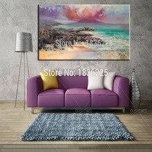 Художника создать новую картину ручной работы высокое качество небо картина маслом на холсте Уникальные Морские абстрактные пейзажные картины