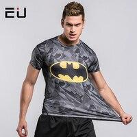 UE Mężczyźni Odkryty Sport Kulturystyka Fitness Szybkie Suche Nadające Się Do Kompresji Koszule Męskie Koszule Koszule Działa Szorty Rękaw Koszula Lato