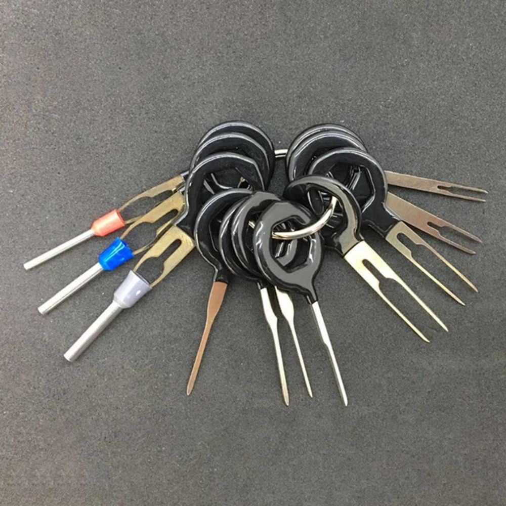 Kabelboom Connector Crimp Pin 11/8/3Pcs Terminal Removal Tools Auto Elektrische Bedrading Crimp Connector Pin extractor Kit