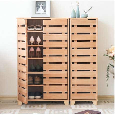 Shoe Cabinets Shoe Rack Home Furniture Beech Solid Wood Shutter