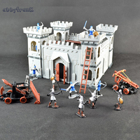 Abbyfrank Mediaeval Castle Soldiers Model Assembled Building Block War Military Knights Plastics Figures Toy DIY Toy For Boys