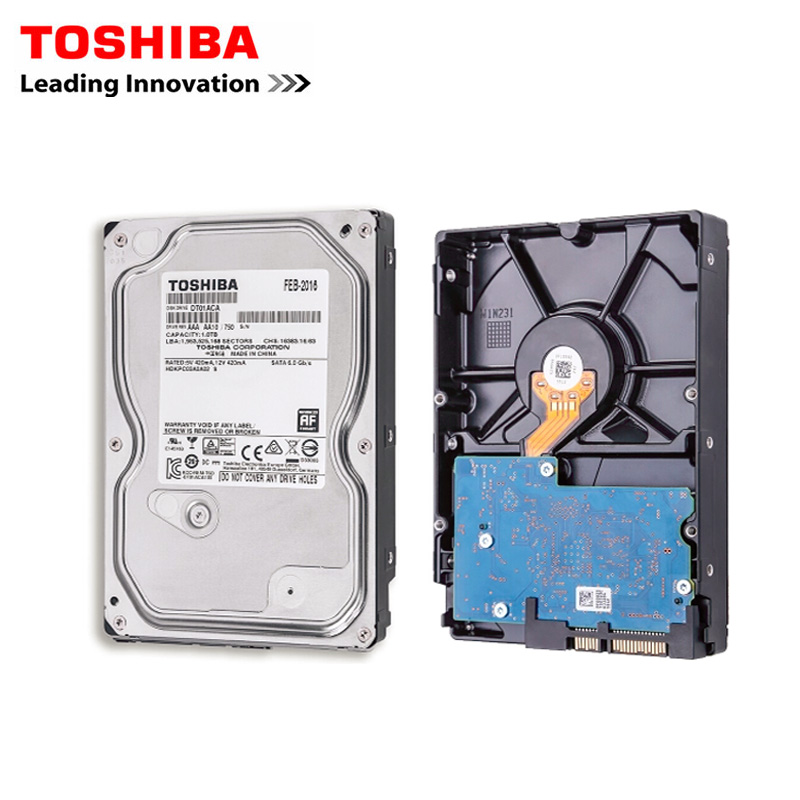 TOSHIBA 1TB <font><b>HDD</b></font> Internal Hard Drives Hard Drive Disk 1 TBInternal HD 7200RPM 32M 3.5Inch <font><b>SATA</b></font> 3 for Desktop Drevo High Speed image