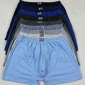 3 pcs do pugilista dos homens com cuecas de algodão cintura idosos underwear calças de gordura plus size mens underwear 107