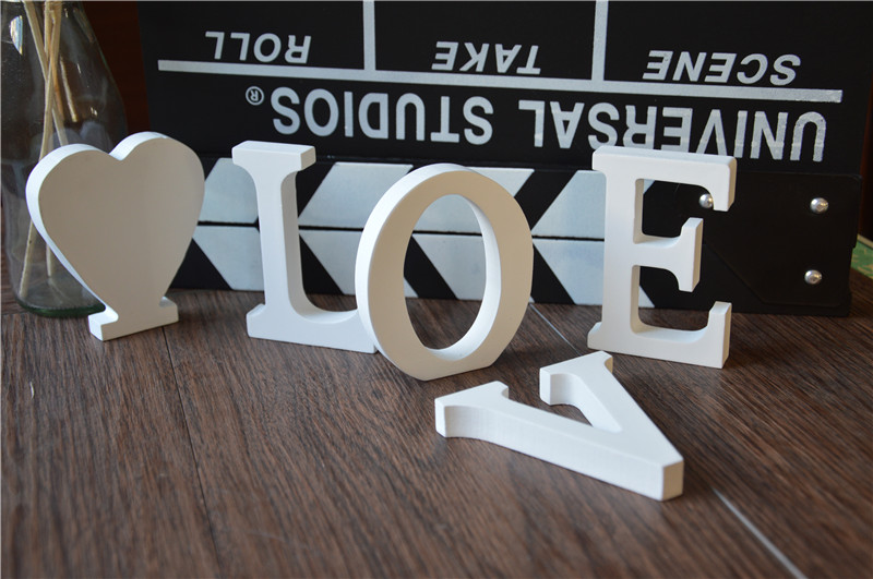 Free Shipping Wedding Decoration Love Wooden Letters Wooden